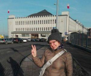 Ania Anna Kotula przewodnik po Gdansku w jezyku angielskim, holenderskim i hiszpańskim; Muzeum Emigracji w Gdyni