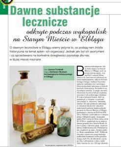 Dawne substancje lecznicze odkryte podczas wykopalisk na Starym Mieście w Elblągu pdf