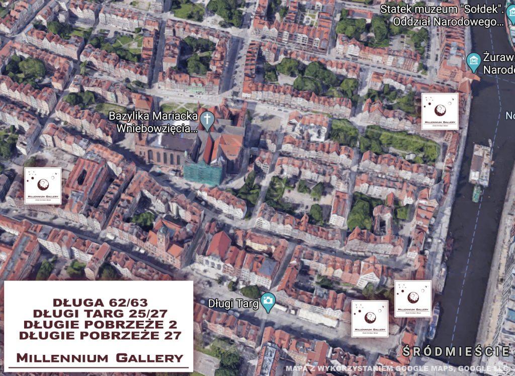 sklepy jubilerskie w centrum Gdańska mapa