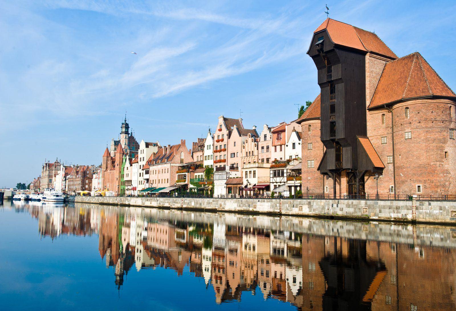 Zuraw w Gdansku nad Motławą
