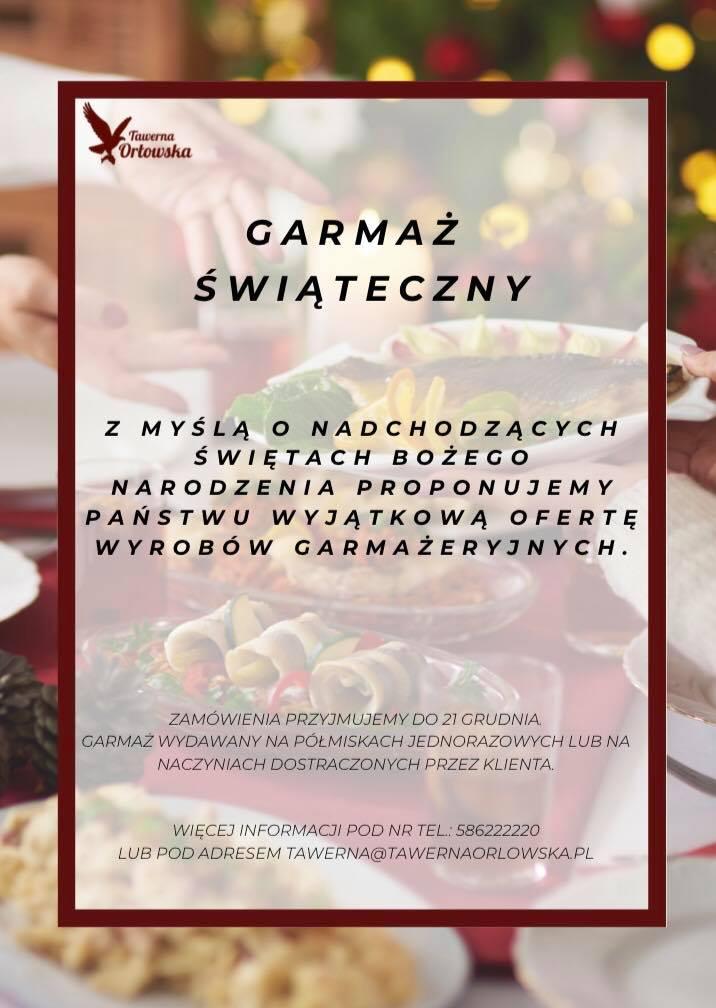 catering wigilijny Gdynia Tawerna Orłowska
